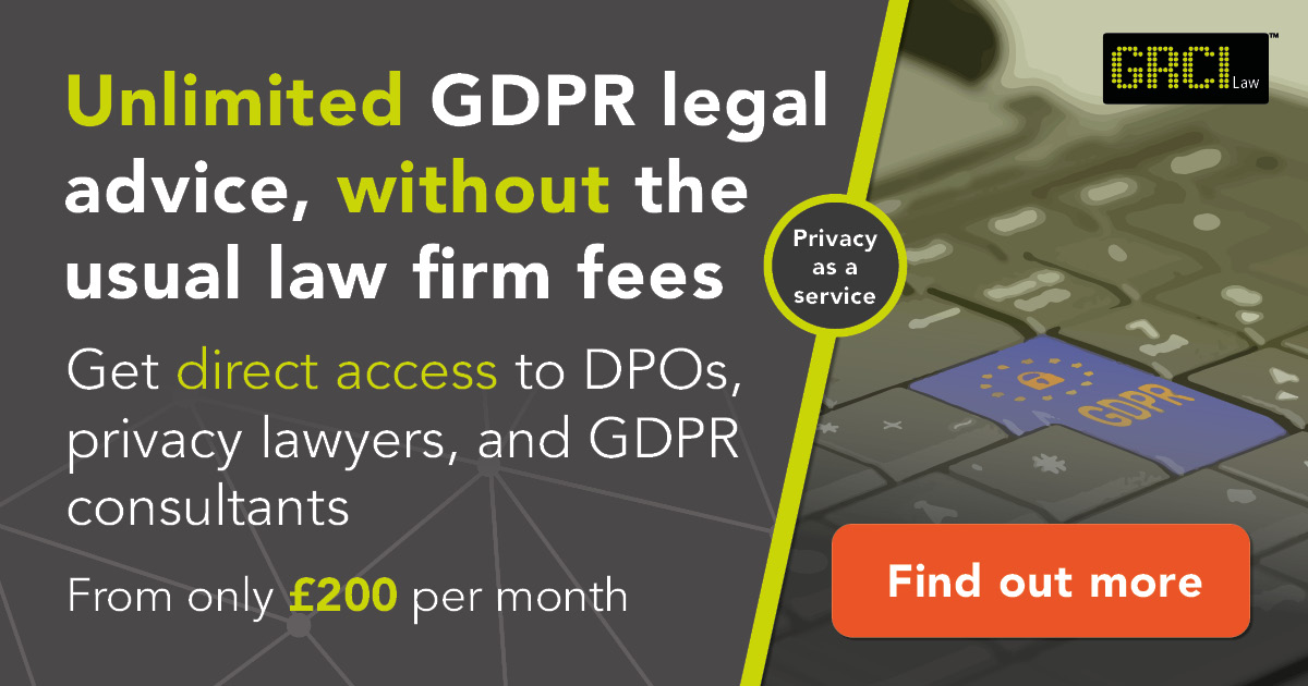 Receive unlimited GDPR legal advice without the usual law firm fees